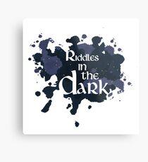 Riddles in the Dark Metal Print