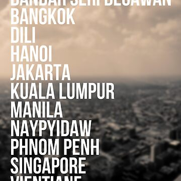Southeast Asia Capital Cities by echovolution