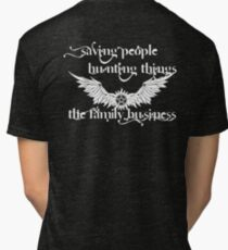 Save people, Hunt things Tri-blend T-Shirt