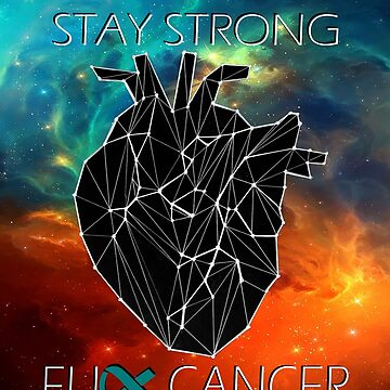 Fuck Cancer // Galaxy //  Geo Heart // Ovarian   by GalaxyBeyond