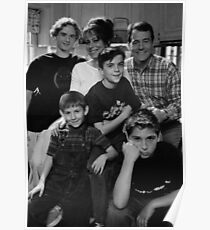 Malcolm in the Middle B&W photo Poster