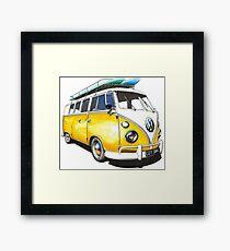 VW Bus Sunshiney day Framed Print