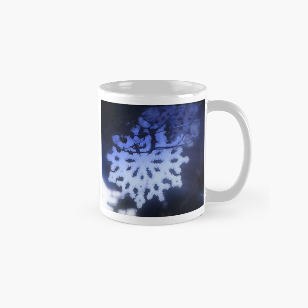 snowflakes in blue 3 Mug