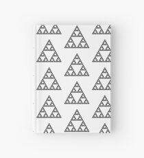 Sierpinski Triangle Fractal Math Art Hardcover Journal
