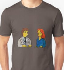 Simpsons Style Mulder and Scully - X Files Unisex T-Shirt
