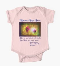 marriage of Titania; Salmon berry floral duet Kids Clothes