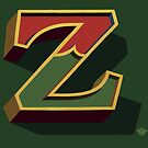 December Green - Letter Z by Carter & Rickard