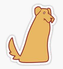 Golden Retriever Blob Sticker