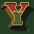December Green - Letter Y by Carter & Rickard