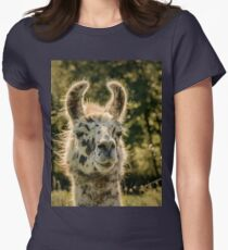 Llama Womens Fitted T-Shirt