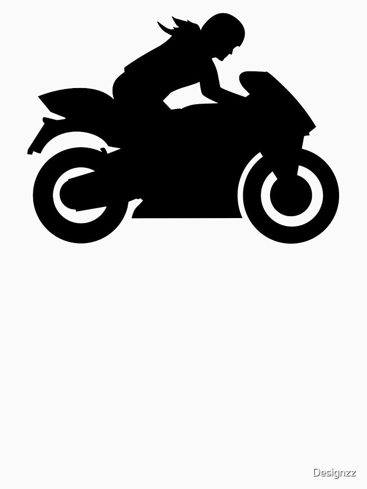 Motorrad Frau Mädchen von Designzz