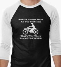 Bacon Motorcycles  Men's Baseball ¾ T-Shirt