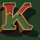 December Green - Letter K by Carter & Rickard