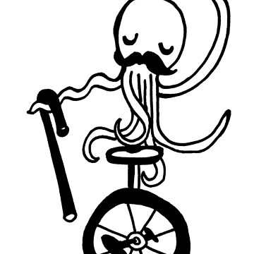 Unicycle Octopus by ArtByHeather