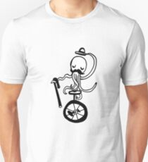 Unicycle Octopus Unisex T-Shirt