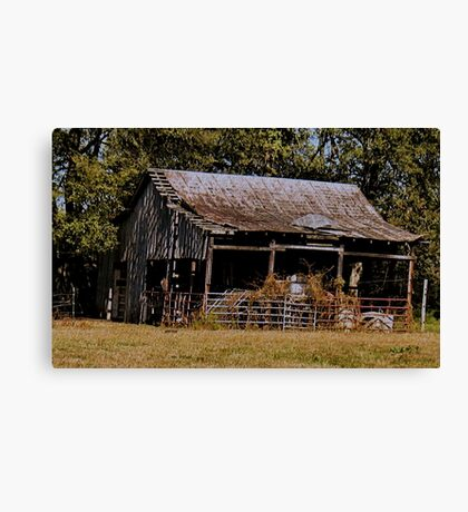 """Old Timer's Barn (colored version)""... prints and products Canvas Print"