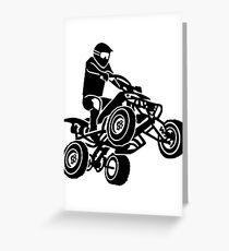 Quad ATV Greeting Card