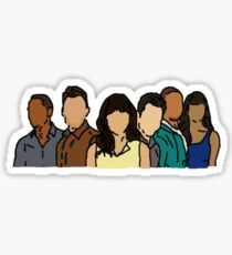 New Girl in Color Sticker