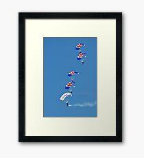 The Falcons parachute team Framed Print