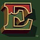 December Green - Letter E by Carter & Rickard