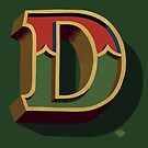 December Green - Letter D by Carter & Rickard