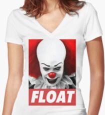 FLOAT Women's Fitted V-Neck T-Shirt