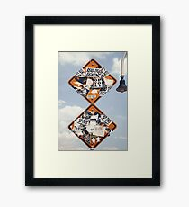Street Signs in the Sky Framed Print