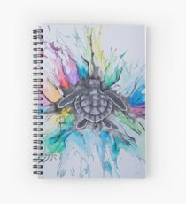 A splash of Rainbow  Spiral Notebook