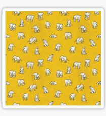 Indian Baby Elephants Yellow Sticker