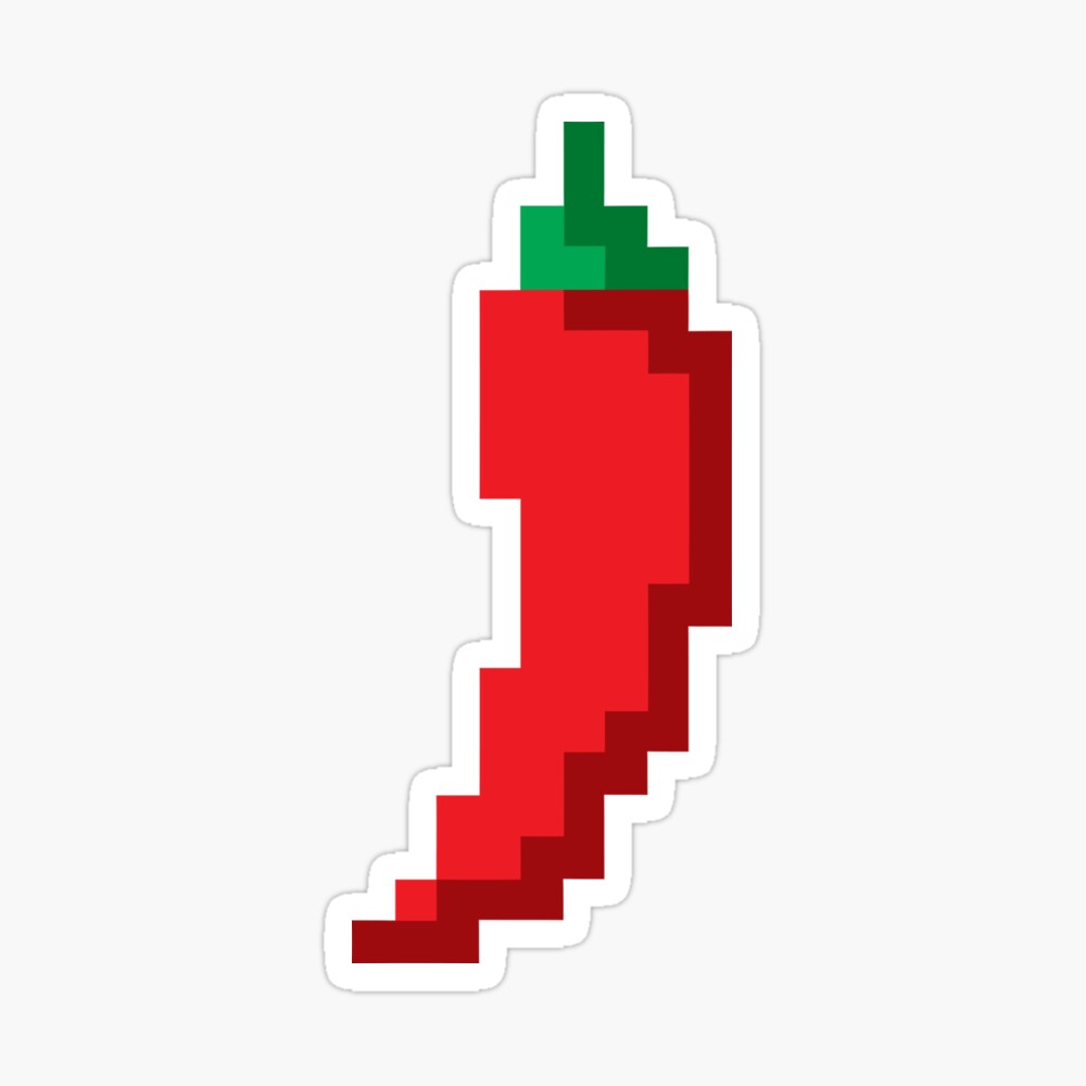 8bit chili Sticker