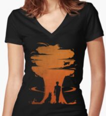Nuclear war Women's Fitted V-Neck T-Shirt