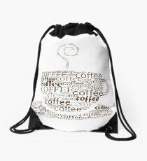 Coffee cup Drawstring Bag