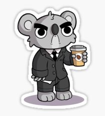 Grumpy Koala Sticker