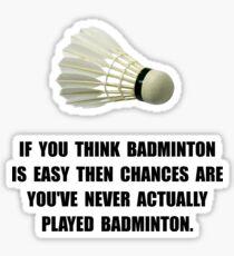 Badminton Easy Sticker