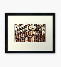 Grundge Architecture Framed Print