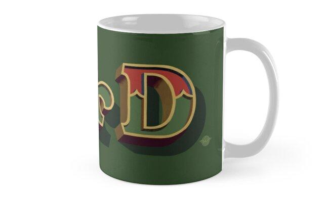 """December Green - """"Dad"""" mug by Carter & Rickard"""