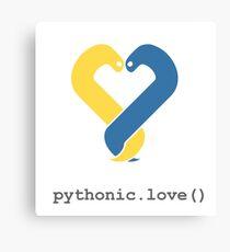 Pythonic Love Canvas Print