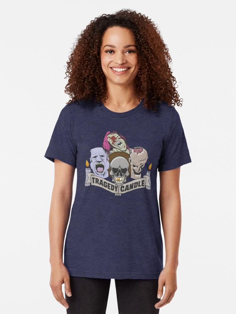 Alternative Ansicht von Nerdy Tee - Tragödie Kerze Vintage T-Shirt