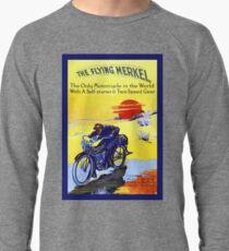 The Flying Merkel, classic American motorcycle ad Lightweight Sweatshirt