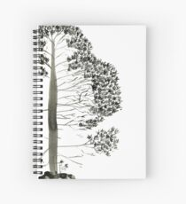 Single Pine, a symbol of longevity Spiral Notebook