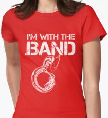 I'm With The Band - Sousaphone (White Lettering) Women's Fitted T-Shirt