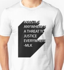 MLK Quote Text Unisex T-Shirt