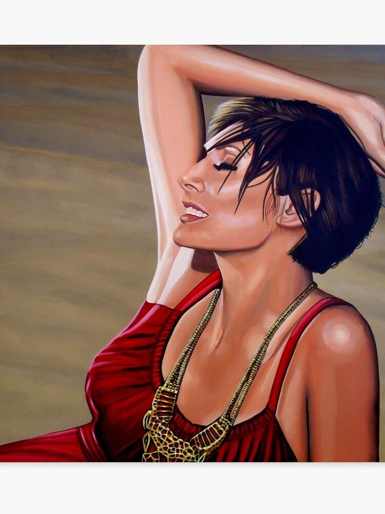 Natalie Imbruglia Painting   Canvas Print
