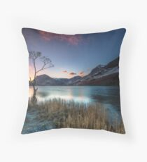 Buttermere Lone Tree, Lake District Throw Pillow