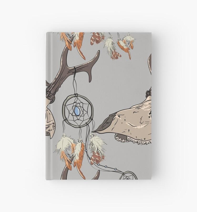 Cuadernos de tapa dura «Patrón sin fisuras con cráneo de ciervo y ...