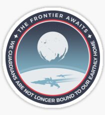 The Frontier Awaits Sticker