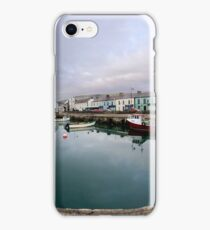 Hurry Head Harbour, Carnlough, County Antrim iPhone Case/Skin