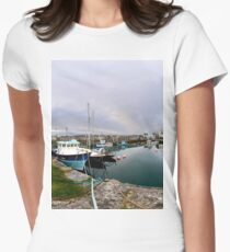 Hurry Head Harbour, Carnlough, County Antrim Women's Fitted T-Shirt