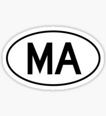 Massachusetts (MA) Euro Sticker Sticker