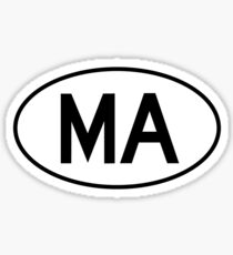 Massachusetts (MA) Oval Sticker Sticker
